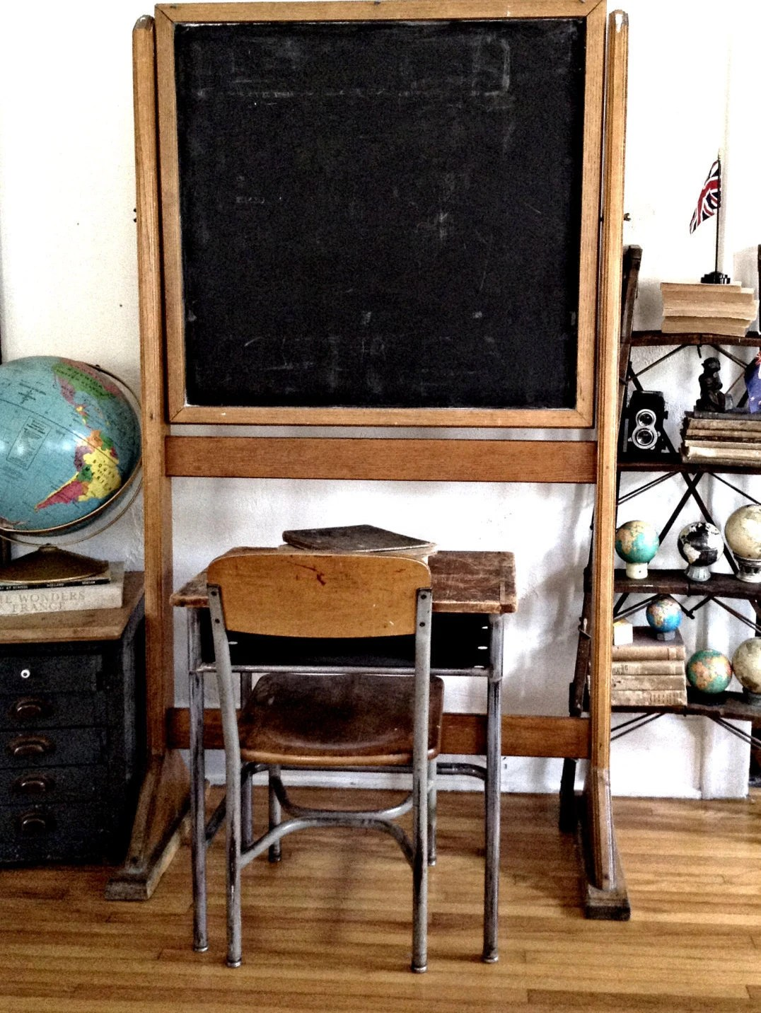 Student Desk And Chair Set Vintage Industrial Student Desk And Chair School Set Metal