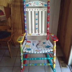 Dr Seuss Chair Exercises Cat In The Hat Adult Kindergarten Reading Rocking Etsy Image 0