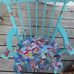 The Mermaid Chair Swivel Bunnings Decoupage Disney Little Etsy Image 0
