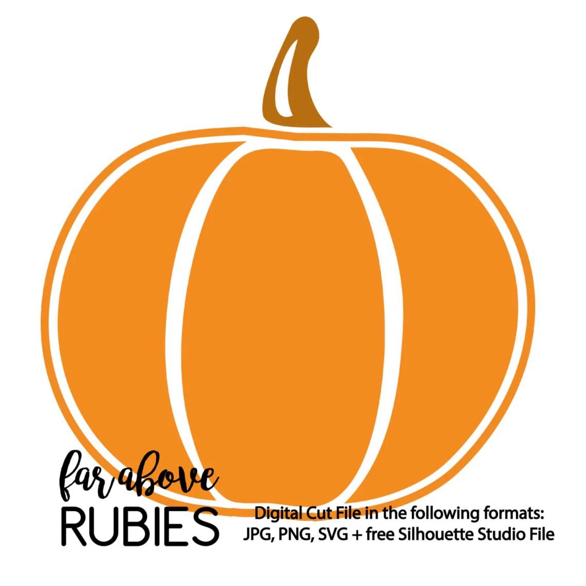Download Simple Pumpkin SVG digital cut file for Silhouette or ...