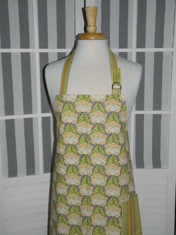 Womens Kitchen Apron Amy Butler Lotus Pond Fabric