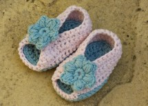 Crochet Pattern Baby Shoes Booties Sandals Open Toe