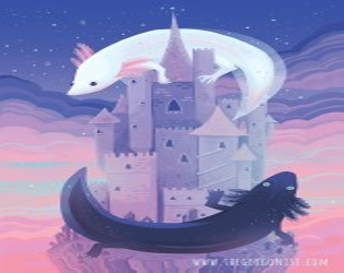 Fantasy castle art Etsy