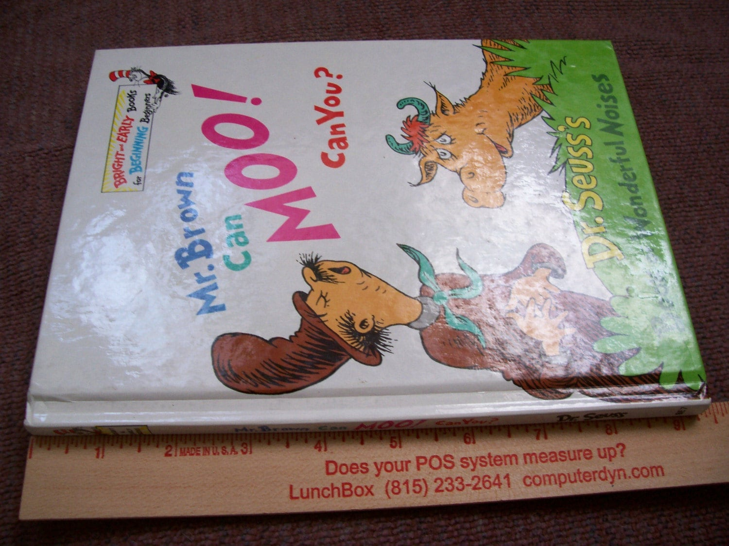 Vintage Dr Seuss Book Mr Brown Can Moo Can You