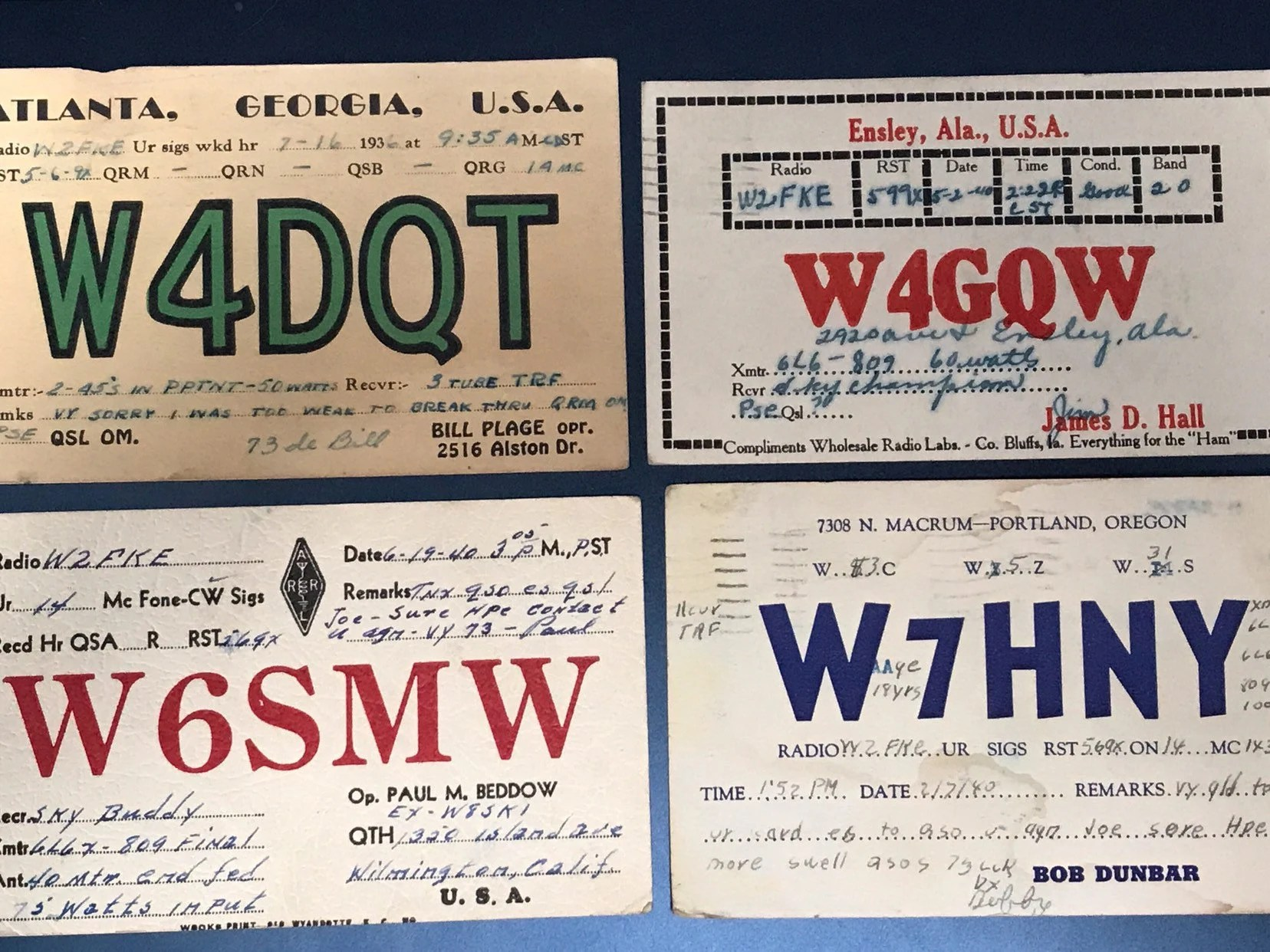 Vintage Style Qsl Cards