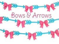 Gender Reveal Bows and Arrows Garland, Baby Shower, Gender ...