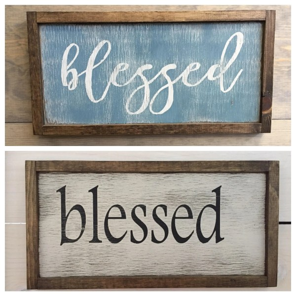 Blessed Sign . Wall Decor Rustic Signs