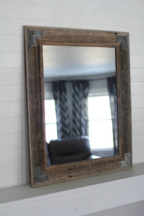 reclaimed wood bathroom mirror barnwood mirror rustic lodge ranch decor ranch hand style