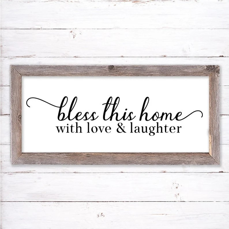 Download Bless This Home With Love and Laughter SVG Christian Sign ...