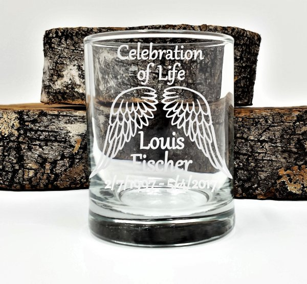 Personalized Memorial Candle Holders Celebration Of Life