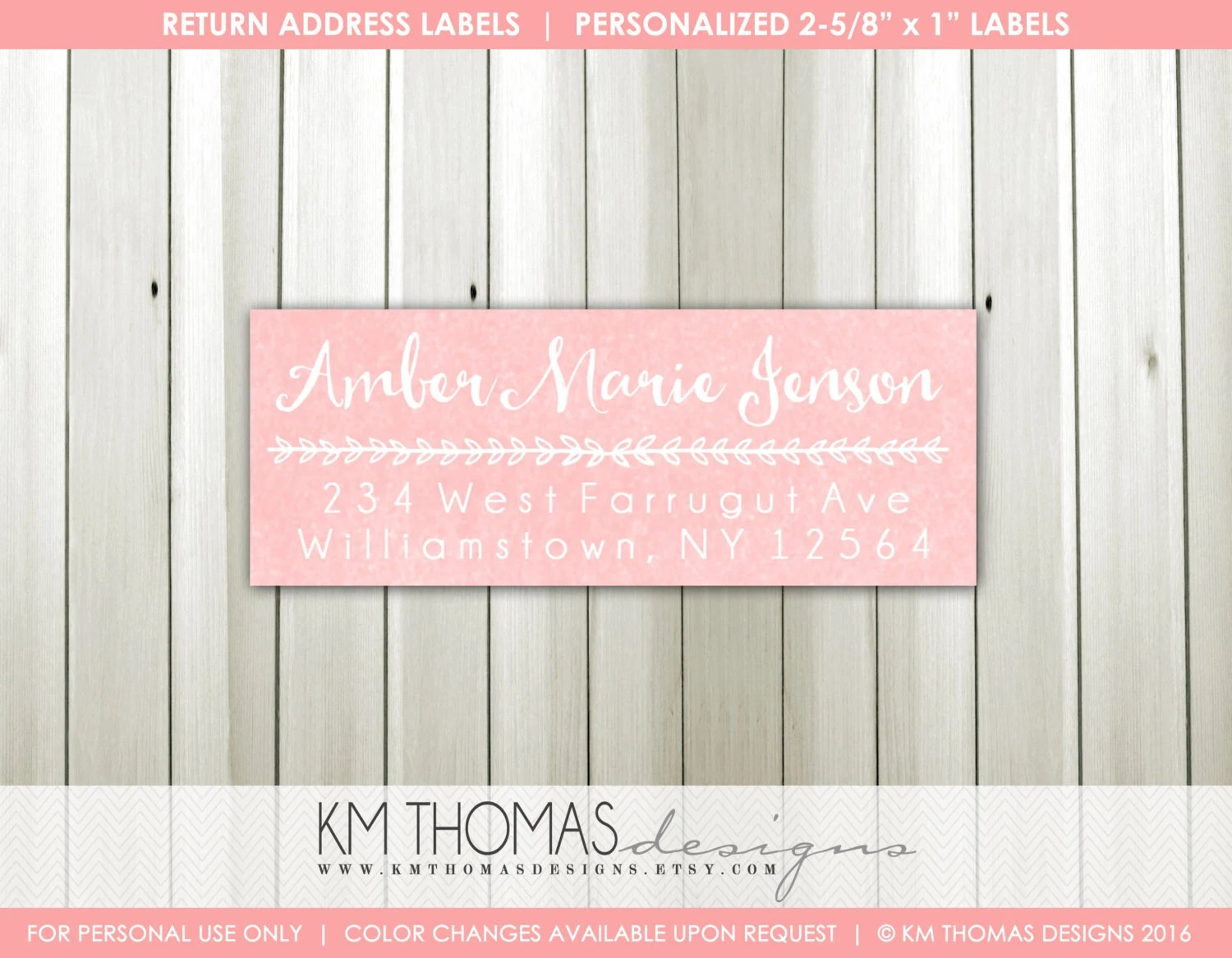 printable return address labels