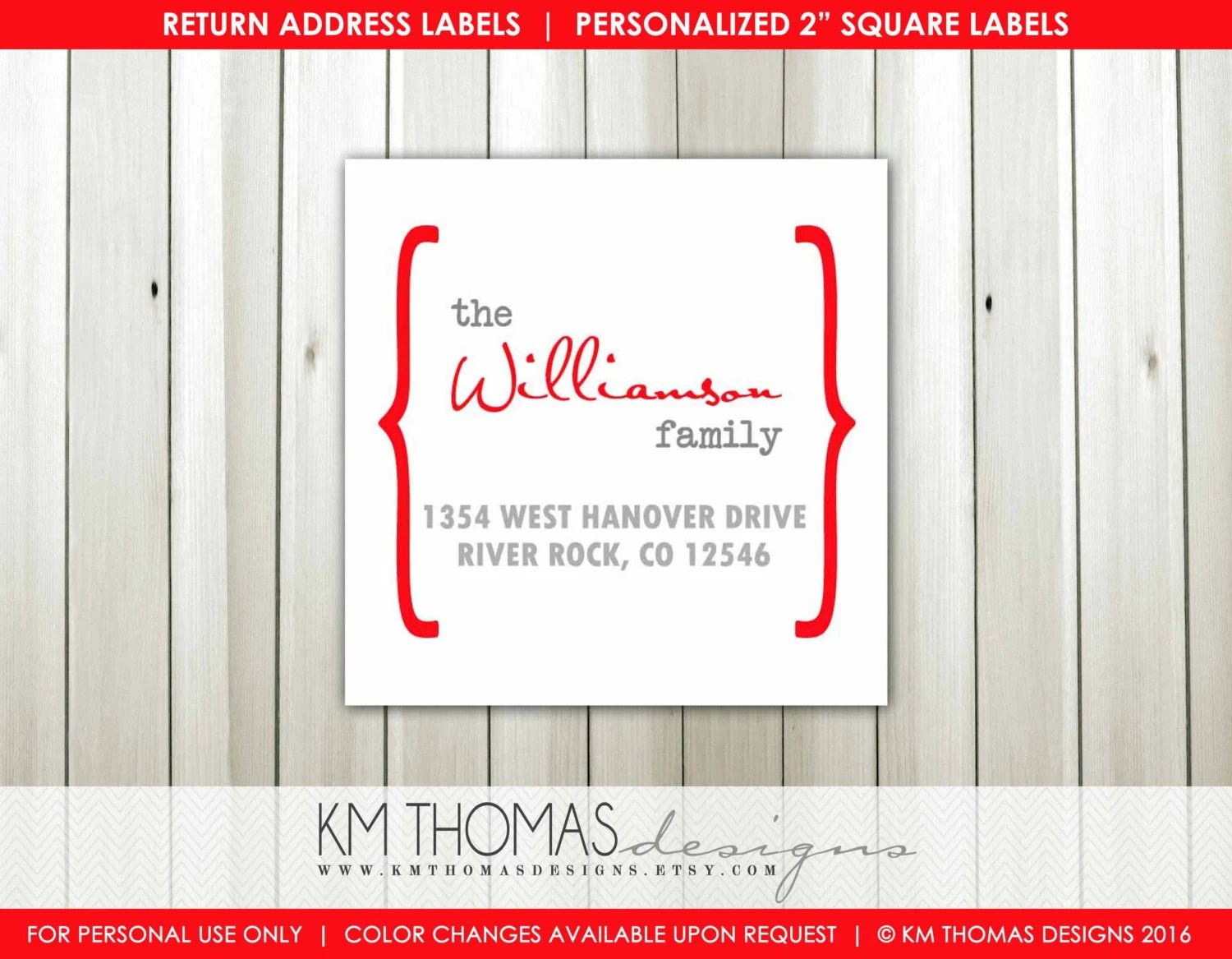 custom address label printable