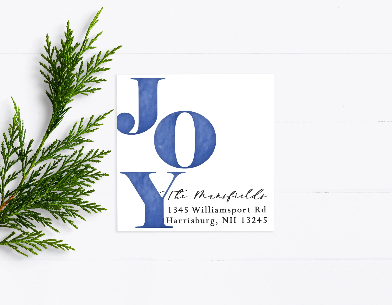 joy christmas return address