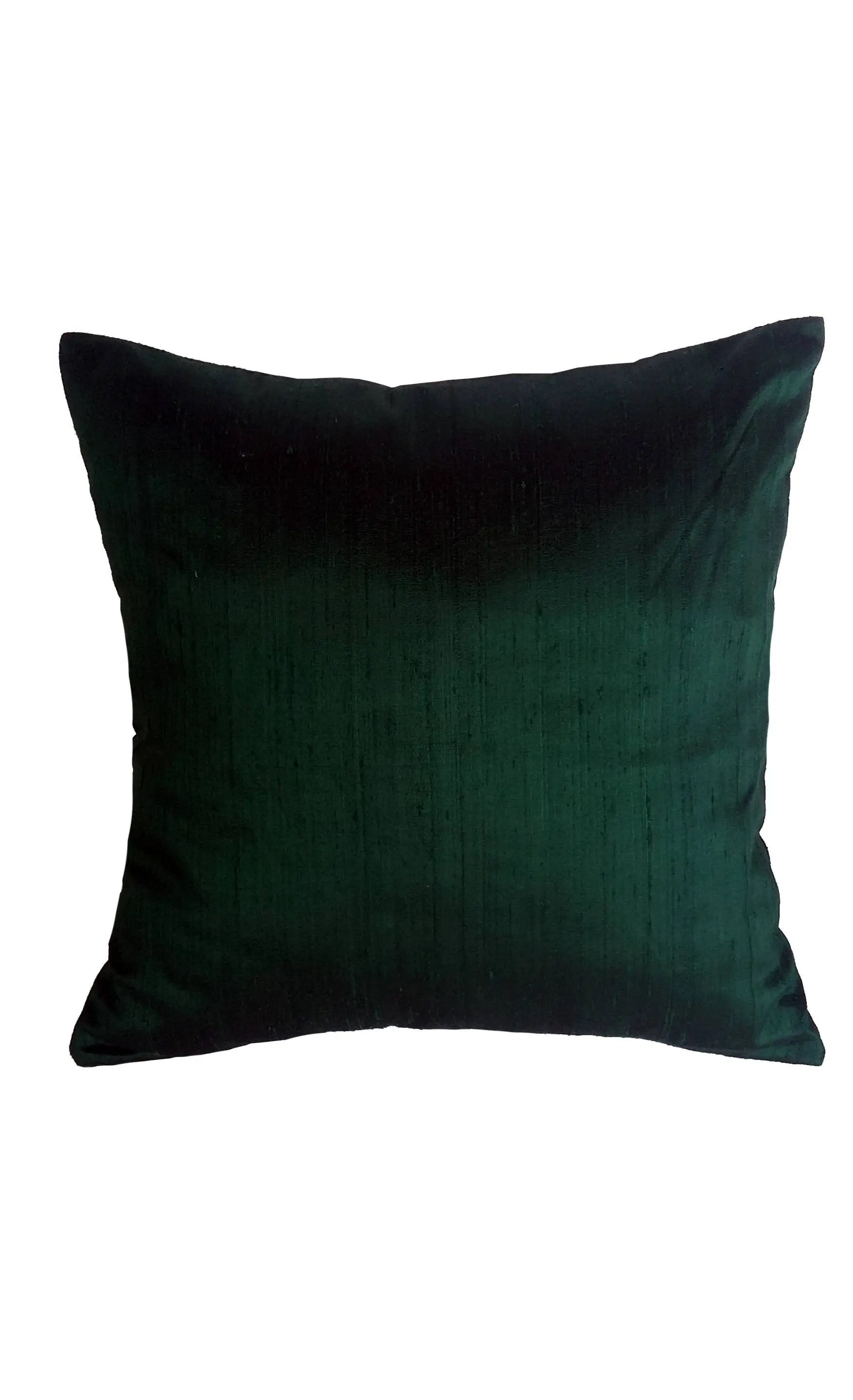 dark green pillow forest green dupioni silk cushion cover jungle green decorative home decor custom made 12 to 26 inches oblong sizes