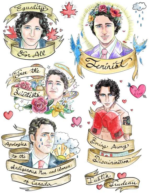 Justin Trudeau Tattoo : justin, trudeau, tattoo, Justin, Trudeau, Temporary, Tattoos