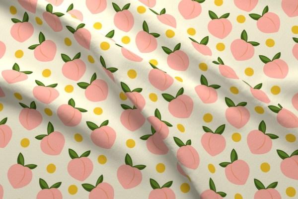 Peach Fabric Peachy-large Scale Lapetitelecour
