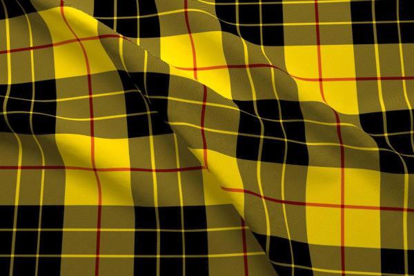 Yellow And Black Plaid Fabric Macleod