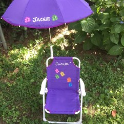 Toddler Beach Chair With Umbrella Wedding Covers In Cornwall Personalized Set Etsy Image 0