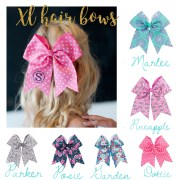 personalized extra large hair bows