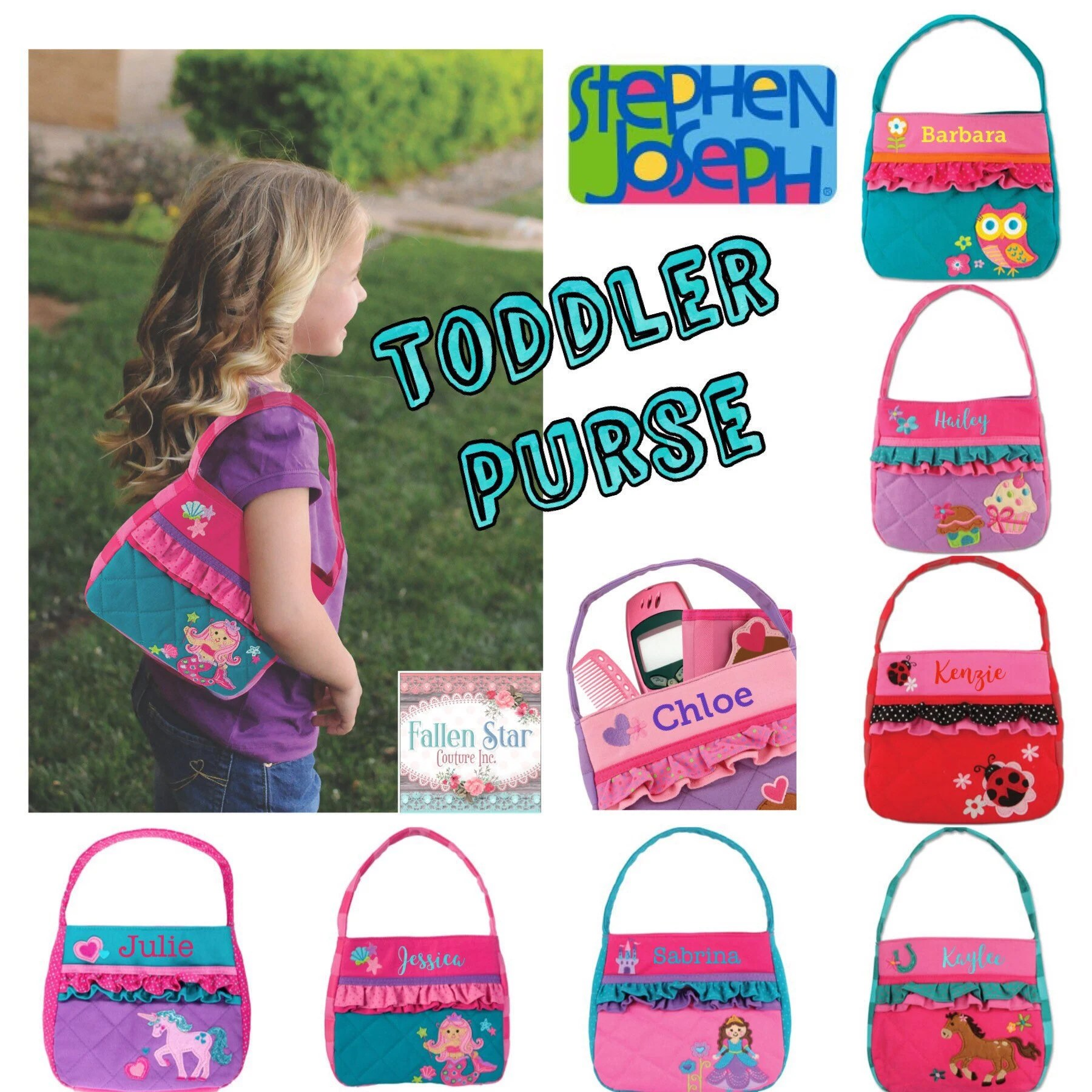 toddler purse personalized little