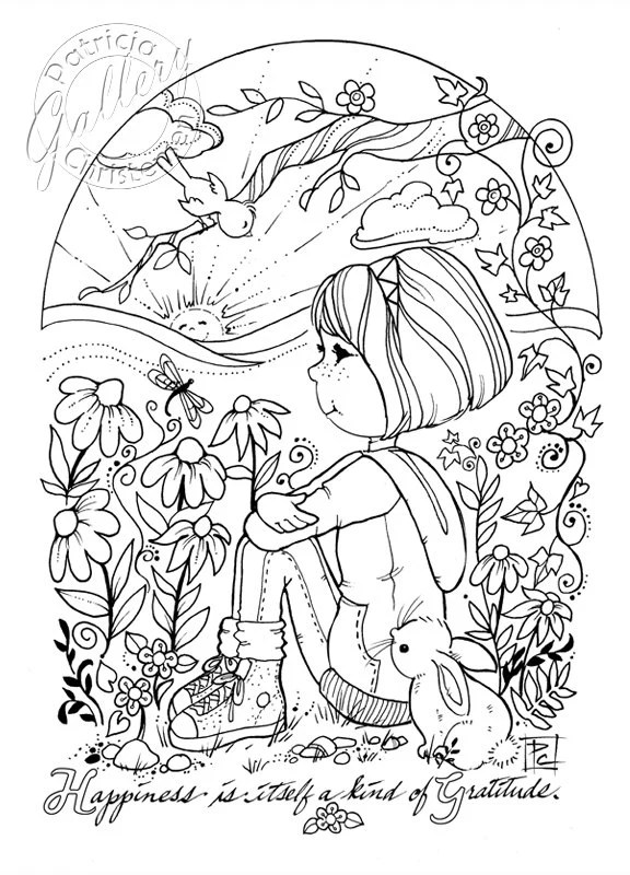 Coloring Book Pages Digital Download Colored Pencils Jel