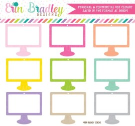 Computer Clipart Graphics Social Media Clip Art Set Commercial Use Computer Clipart for Students Schools Businesses and Influencers by Erin Bradley Designs Catch My Party