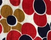 Vintage Flower Power Fabric Remnant