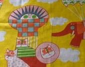 "Rare Vintage Original Waverly ""The  Big Balloon"" Fabric Remnant"