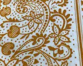 Vintage 1960s Cotton Fabric, American Colonial Era Reproduction Fabric