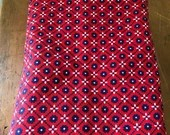 Vintage Schwartz-Liebman Country Charm Floral Checked Fabric