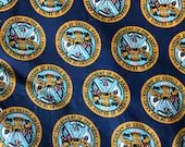 Vintage Seal of the United States Army Fabric