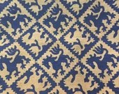 Griffin Printed Burlap Fabric Remnant