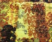 Vintage Vera Cruz Waverly Fabric Remnant, Vintage Burnt Orange Fabric