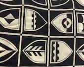 Vintage Navy Nautical Fabric, Vintage Shield Fabric, Nautical Fabric, 90s Fabric,