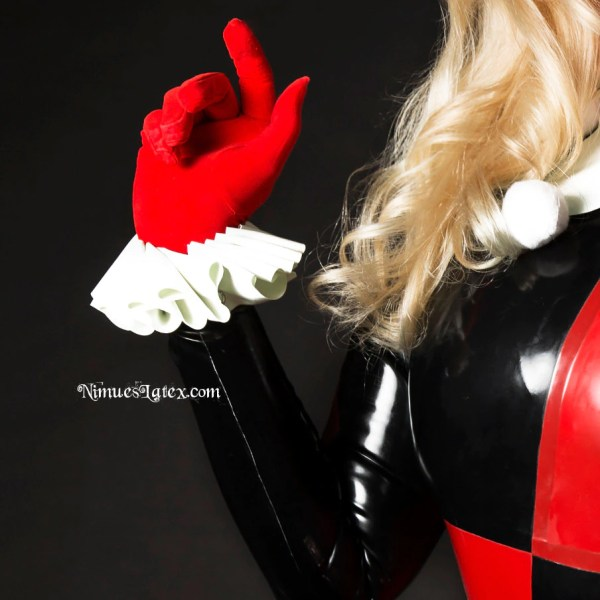 Harley Quinn Complete Latex Cosplay Costume Pieces