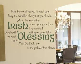 irish wall decal etsy