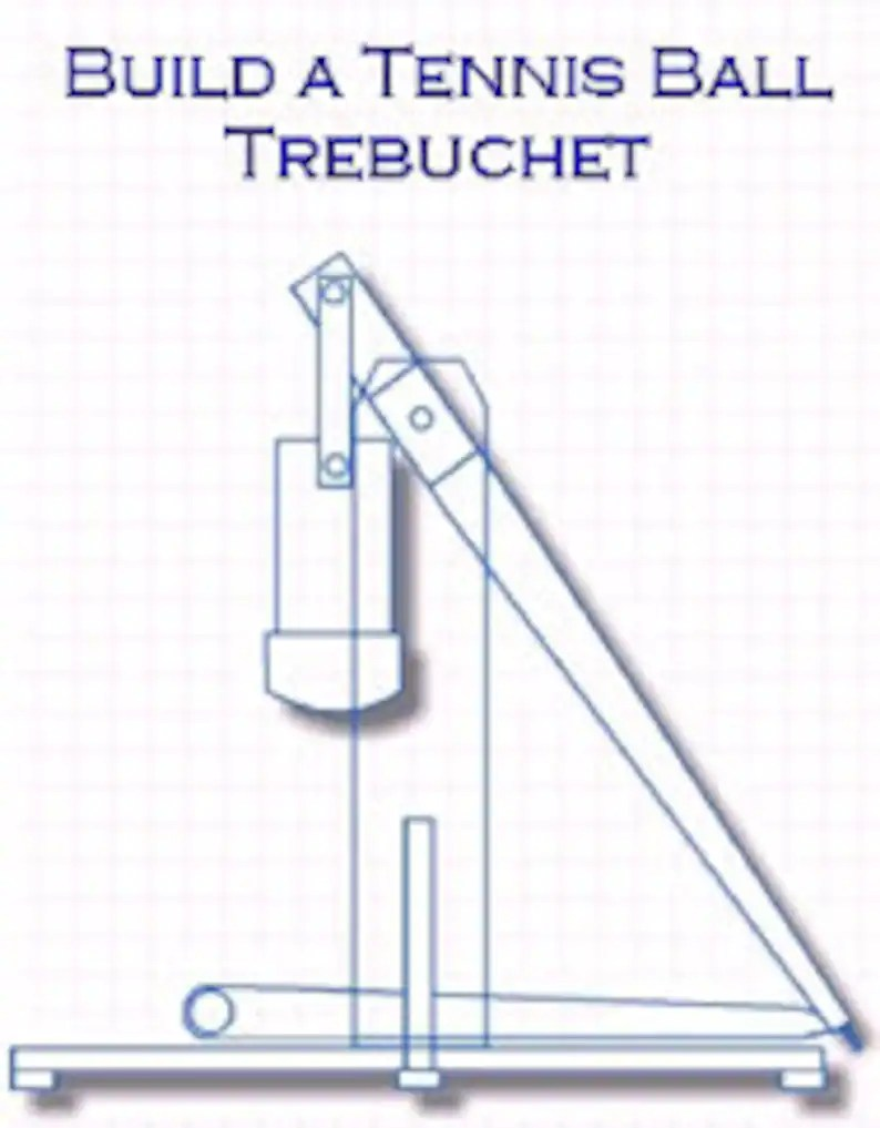 hight resolution of science project trebuchet 6 feet tall step by step plans etsy the following diagram illustrates the model of the trebuchet to use