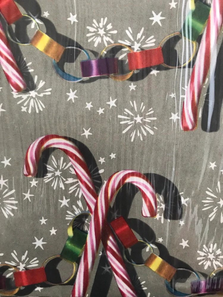 candy cane gift wrap