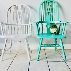 Vintage Kitchen Chairs Remodeling Calgary Etsy Dining Farmhouse Custom Painted Shabby Chic Color Set Of 2 Captain