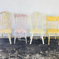 Kitchen Chairs Wood Folding Chair Jokes Etsy Dining Vintage Farmhouse Custom Painted Shabby Chic Colors Set Of 4