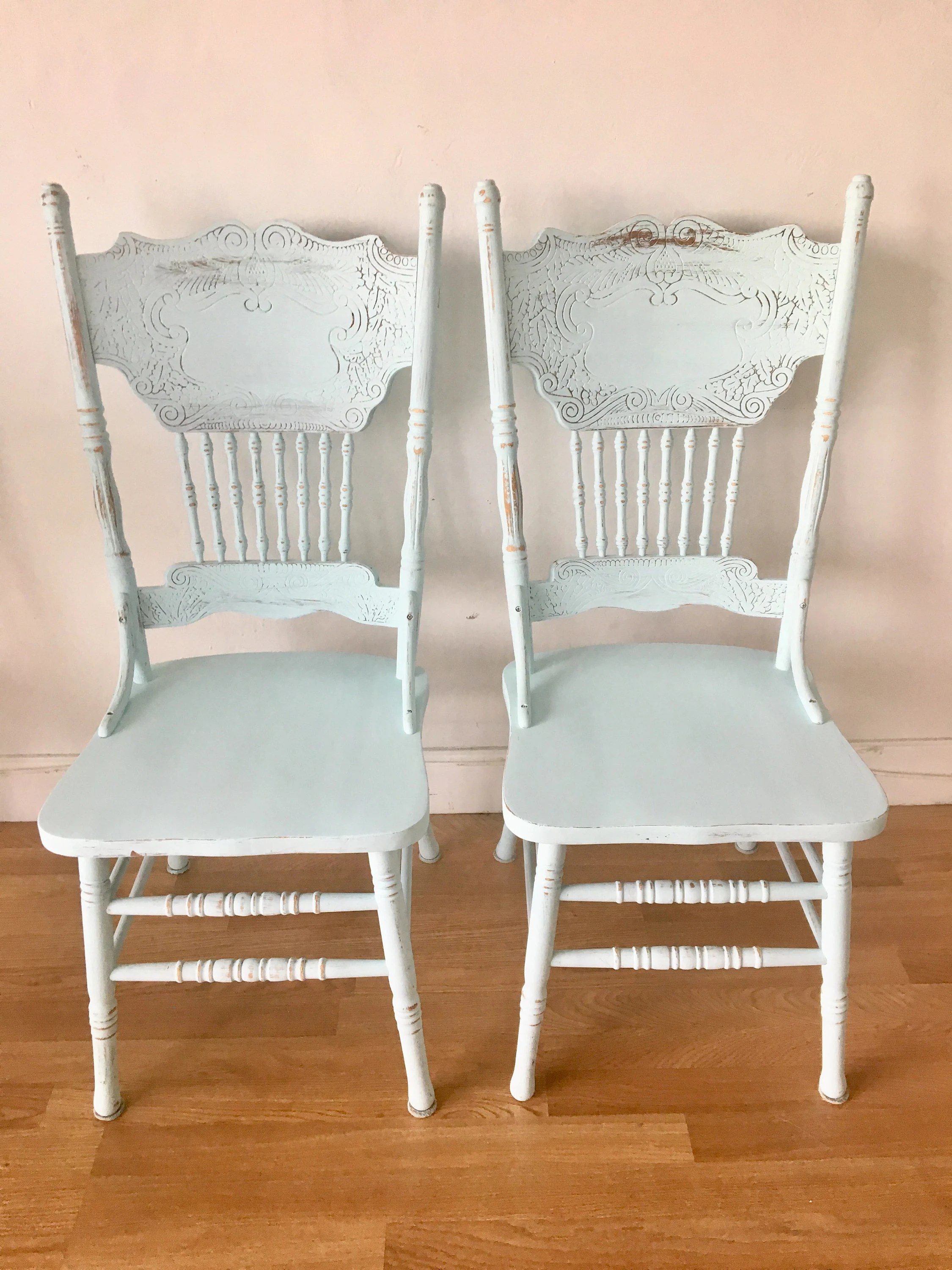 Refurbished Chairs Refurbished Farmhouse Shabby Chic Dining Chairs Custom Colors Available