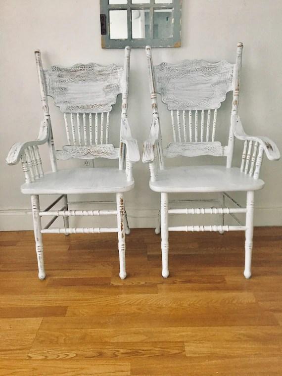 antique white dining chairs inexpensive adirondack shabby chic etsy image 0