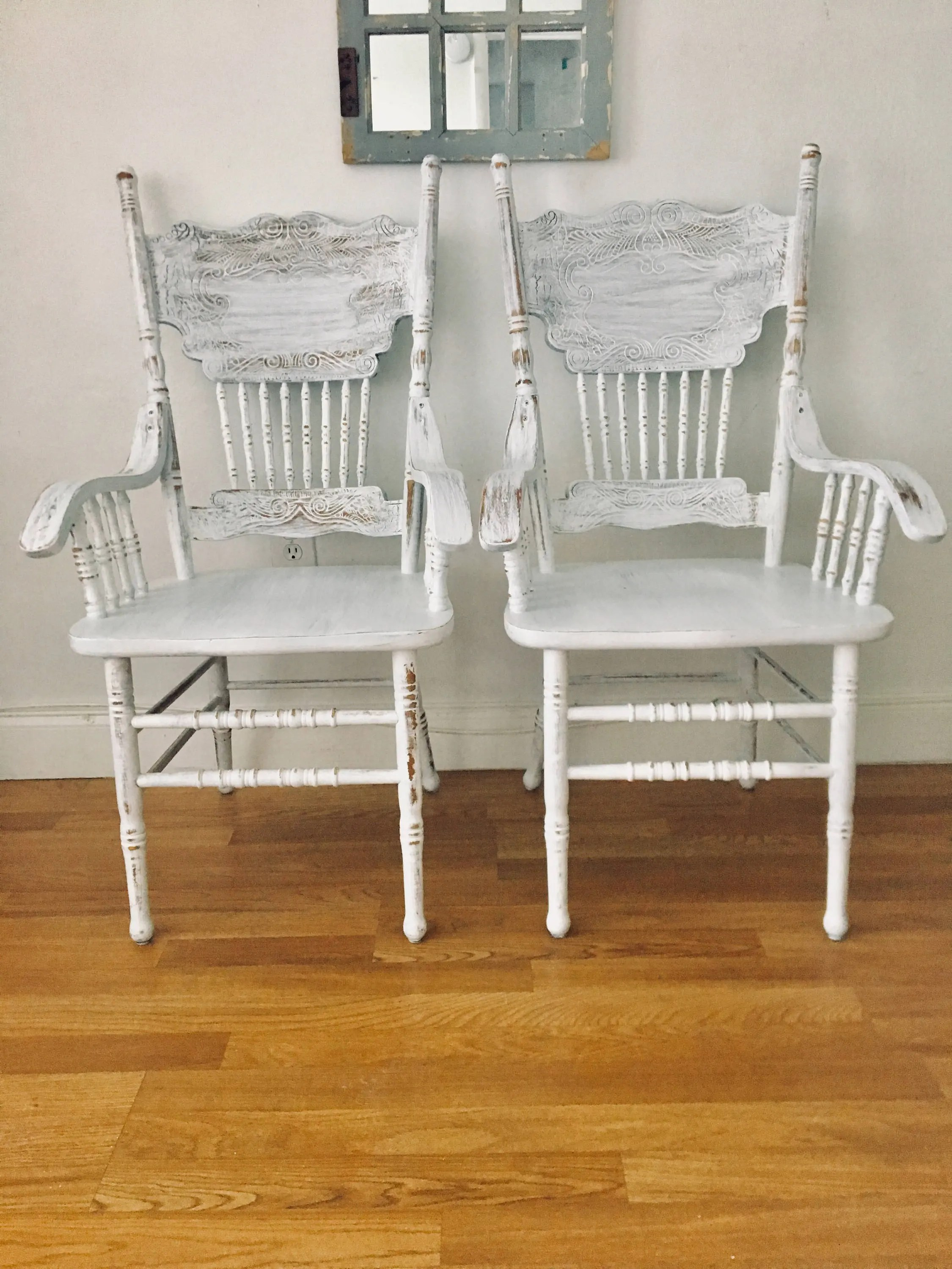 Antique White Dining Chairs Shabby Chic Antique White Dining Chairs