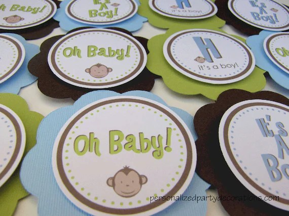 Items Similar To Monkey Baby Shower Decorations, Monkey