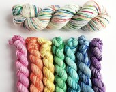 Rainbow sparkle yarn set....