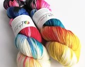 Hand dyed bamboo wool yar...