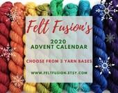 Yarn Advent Calendar, yarn pre-order, sock, sparkle sock or dk 20g mini skeins, hand dyed yarn-vent calendar, gift for knitters, crocheters