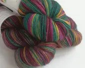 Hand dyed yarn pre-order.  Opulence colourway, variegated wool yarn. Dyed to order. You choose yarn base and amount. sock dk.  Autumn, fall.