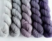 Hand dyed grey to purple ...