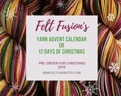 Yarn Advent Calendar, 12 days of Christmas yarn box, 20g mini skein PRE-ORDER, hand dyed yarn-vent calendar, gift for knitters or crocheters